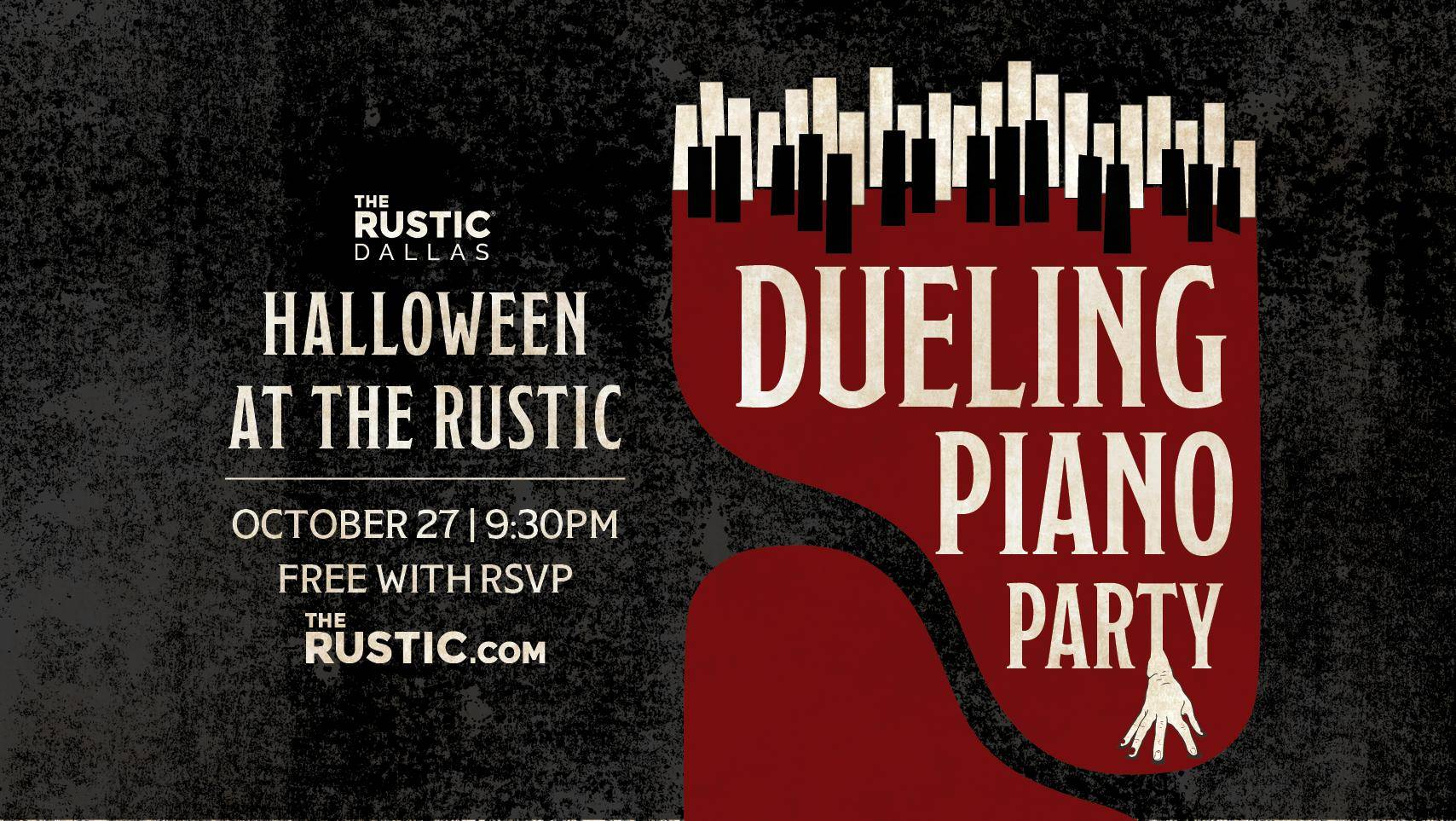 halloween at the rustic featuring dueling piano party - the rustic