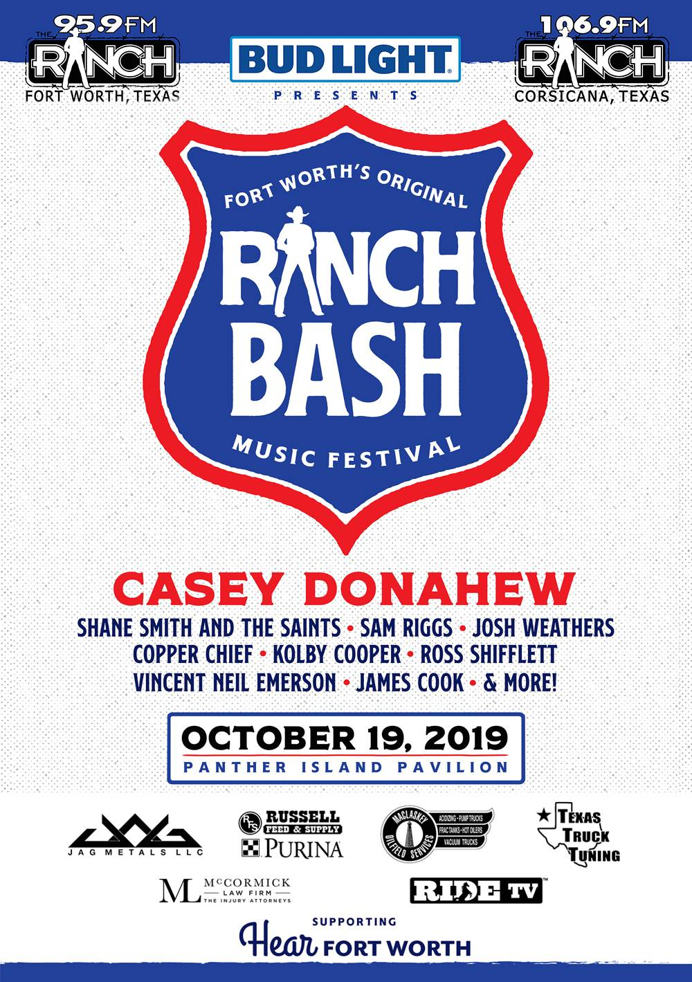 Ranch Bash 2019 - Panther Island Pavilion - Fort Worth, TX