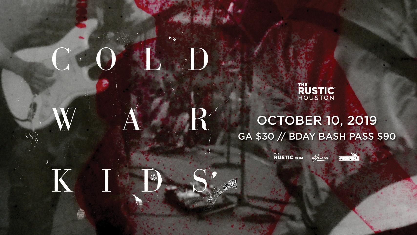 Cold War Kids - The Rustic Houston - Houston, TX | Prekindle