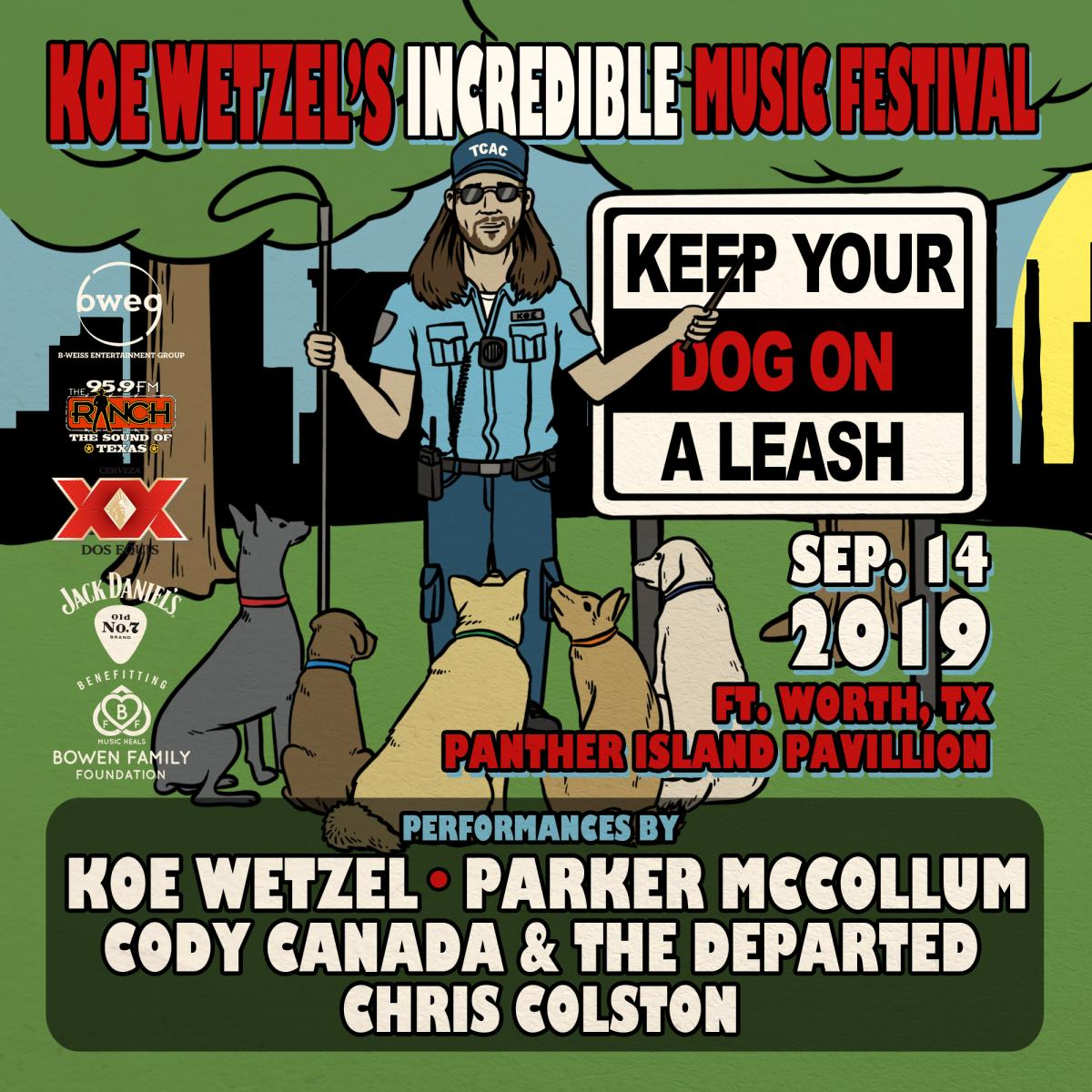 Koe Wetzel Incredible Music Festival - Panther Island Pavilion
