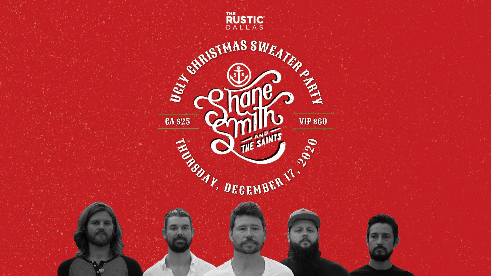 Christmas Concerts 2020 Dallas Tx Ugly Christmas Sweater Party with Shane Smith & The Saints